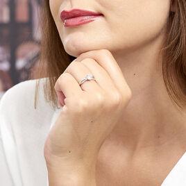 Bague Solitaire Essie Argent Blanc Oxyde De Zirconium - Bagues solitaires Femme   Histoire d'Or