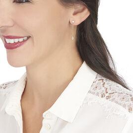 Boucles D'oreilles Pendantes Kadidja Or Jaune Oxyde De Zirconium - Boucles d'oreilles pendantes Femme   Histoire d'Or