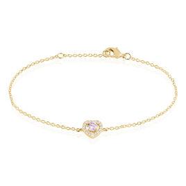 Bracelet Plaqué Or Jaune Alais Oxyde De Zirconium - Bracelets Coeur Femme | Histoire d'Or