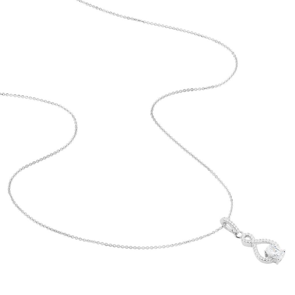 Collier Ylianna Argent Blanc Oxyde De Zirconium - Colliers fantaisie Femme | Histoire d'Or