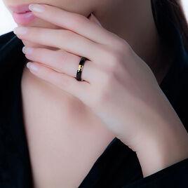 Bague Anaig Or Jaune Diamant Et Céramique - Bagues avec pierre Femme | Histoire d'Or