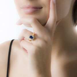 Bague Vladimir Or Blanc Saphir Et Diamant - Bagues solitaires Femme   Histoire d'Or