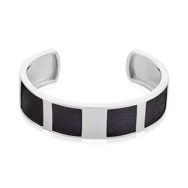 Bracelet Jonc Milo Argent Blanc - Bracelets joncs Homme   Histoire d'Or