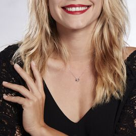 Collier Or Blanc Julianoir Diamants - Colliers Coeur Femme   Histoire d'Or
