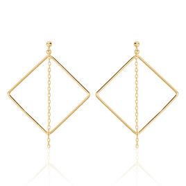 Boucles D'oreilles Pendantes Idoia Plaque Or Jaune - Boucles d'oreilles fantaisie Femme | Histoire d'Or