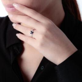Bague Maura Or Blanc Saphir Diamant - Bagues avec pierre Femme   Histoire d'Or