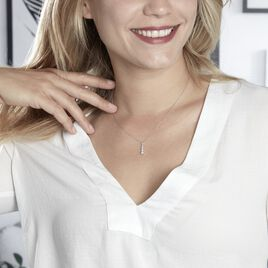 Collier Roia Argent Blanc Oxyde De Zirconium - Colliers fantaisie Femme   Histoire d'Or