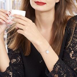 Bracelet Jonc Tam Argent Blanc - Bracelets cordon Femme | Histoire d'Or