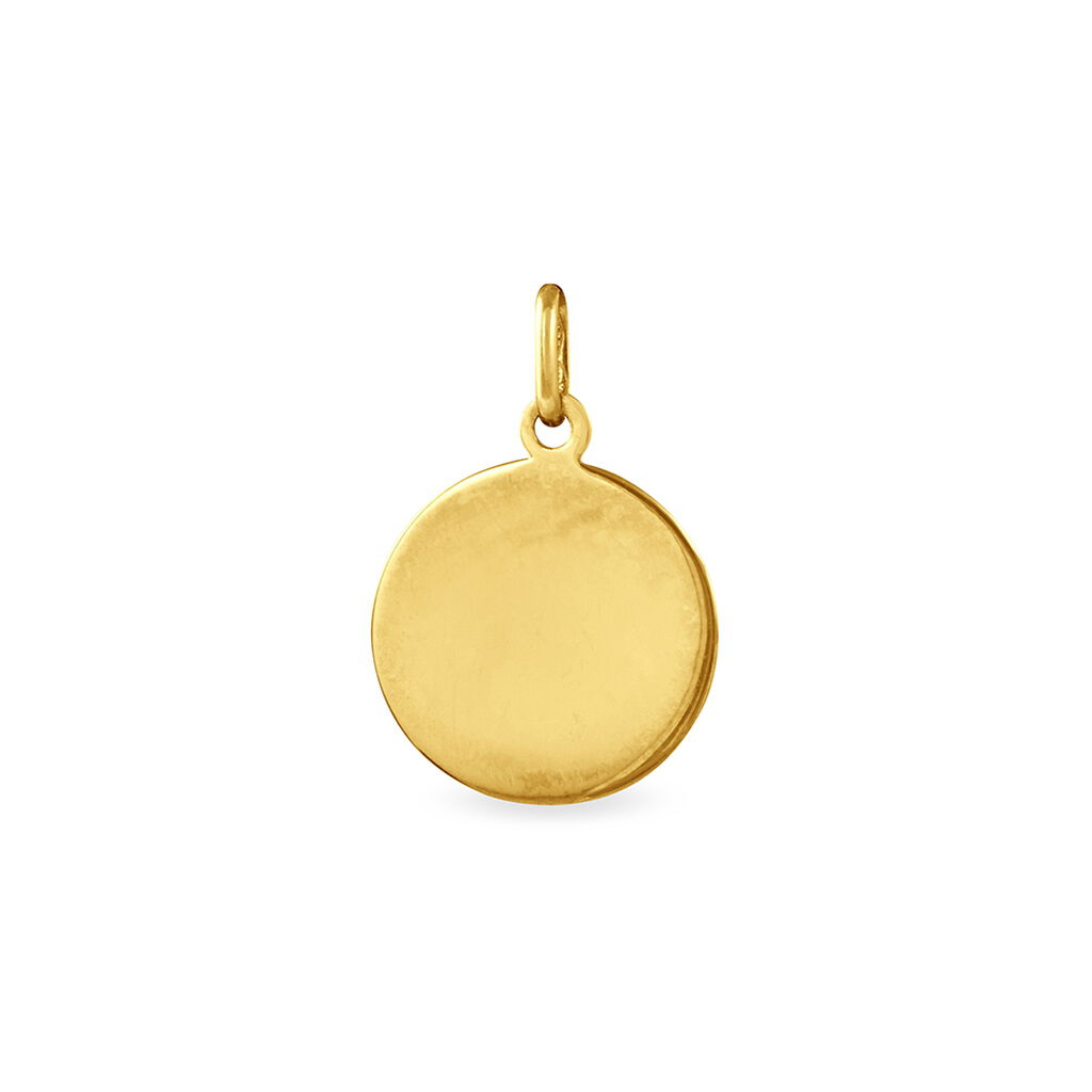 Pendentif Vierge Rond Or Jaune - Bijoux Vierge Unisexe | Histoire d'Or