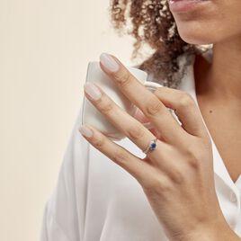 Bague Sagesse Or Blanc Saphir Et Diamant - Bagues solitaires Femme   Histoire d'Or