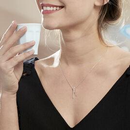 Collier Filipia Argent Blanc Oxyde De Zirconium - Colliers fantaisie Femme | Histoire d'Or