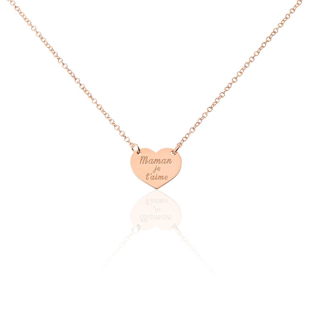 Collier Betie Argent Rose - Colliers Coeur Femme | Histoire d'Or
