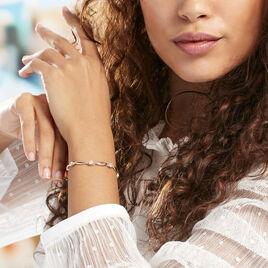 Bracelet Mimona Plaque Or Jaune Oxyde De Zirconium - Bijoux Femme | Histoire d'Or
