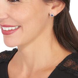 Boucles D'oreilles Or Blanc Linaelle - Clous d'oreilles Femme   Histoire d'Or