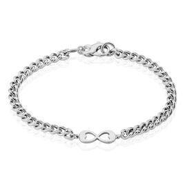Bracelet Pao Argent Blanc - Bracelets Infini Femme | Histoire d'Or