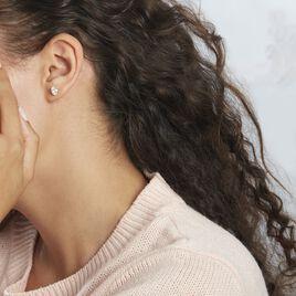 Boucles D'oreilles Puces Elea Or Jaune Oxyde - Clous d'oreilles Femme   Histoire d'Or