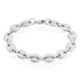 Bracelet Cadia Acier Blanc - Bracelets fantaisie Homme | Histoire d'Or
