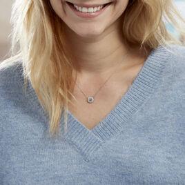 Collier Elfidiane Or Blanc Diamant - Bijoux Femme   Histoire d'Or
