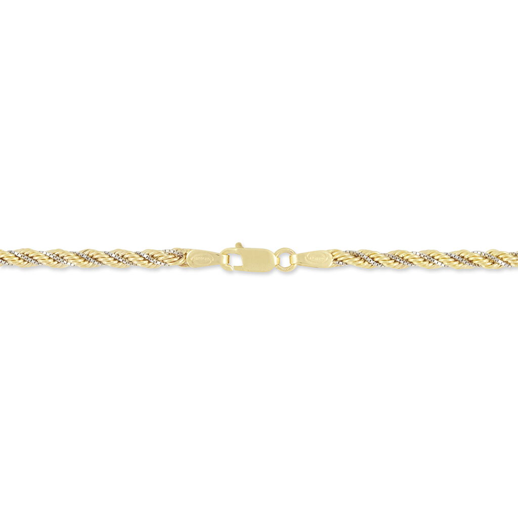 Bracelet Jerry Maille Corde Et Venitienne Or Bicolore - Bracelets chaîne Femme | Histoire d'Or