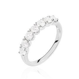 Alliance Eloise Or Blanc Diamant - Alliances Femme   Histoire d'Or