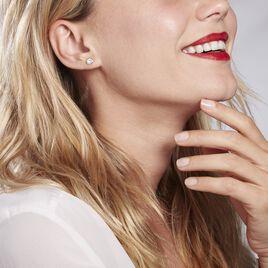 Boucles D'oreilles Amazone Or Jaune Email Strass - Clous d'oreilles Femme | Histoire d'Or