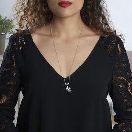 Collier Sautoir Junien Argent Blanc Oxyde De Zirconium - Sautoirs Femme   Histoire d'Or
