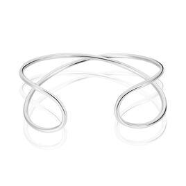 Bracelet Jonc Kitia Argent Blanc - Bracelets fantaisie Femme   Histoire d'Or
