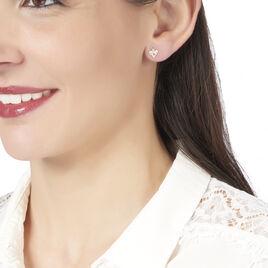 Boucles D'oreilles Puces Anabel Or Jaune Oxyde De Zirconium - Clous d'oreilles Femme | Histoire d'Or