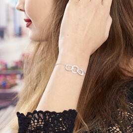 Bracelet Joy Argent Blanc - Bracelets fantaisie Femme   Histoire d'Or