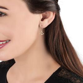 Boucles D'oreilles Puces Aylen Or Jaune Diamant - Boucles d'oreilles pendantes Femme   Histoire d'Or