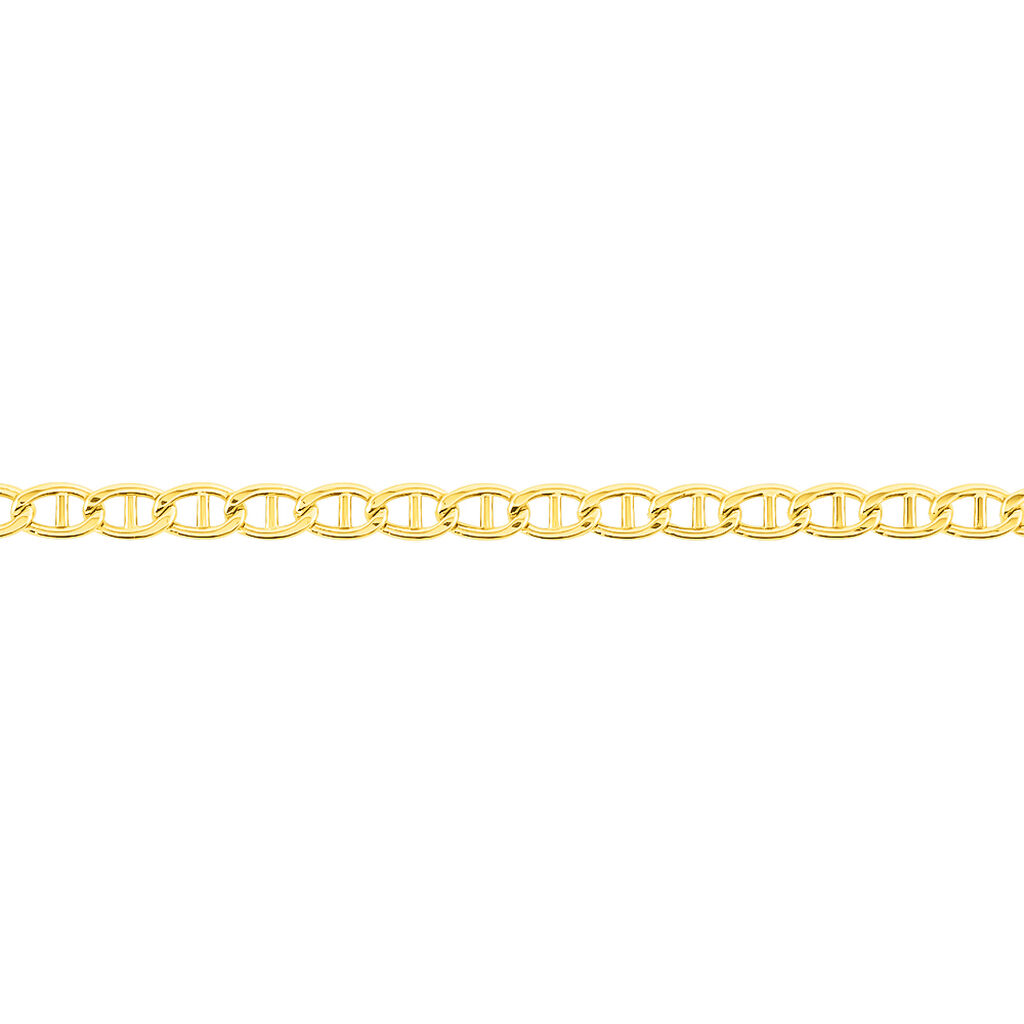 Bracelet Capucin Maille Marine Plate Or Jaune - Bracelets chaîne Femme   Histoire d'Or