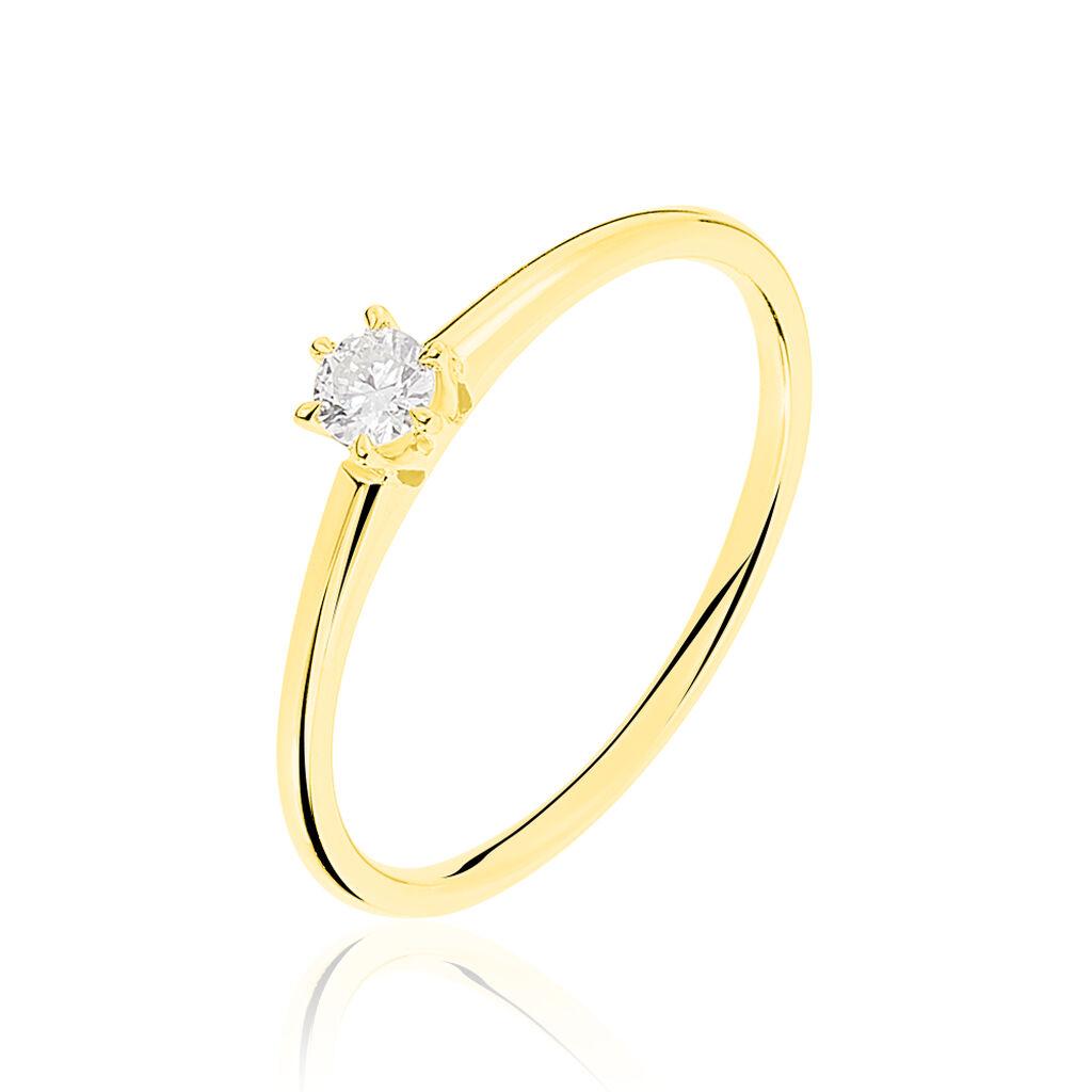 Solitaire Or Jaune Et Diamant - Bagues solitaires Femme | Histoire d'Or