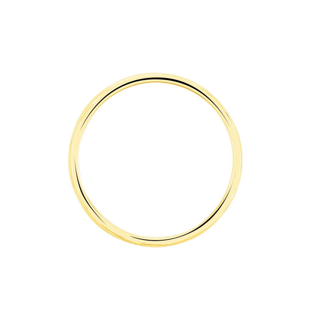 Alliance Eros Brossee Ruban Plat Or Jaune - Alliances Famille | Histoire d'Or