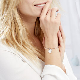 Bracelet Neala Argent Blanc - Bracelets Coeur Femme   Histoire d'Or