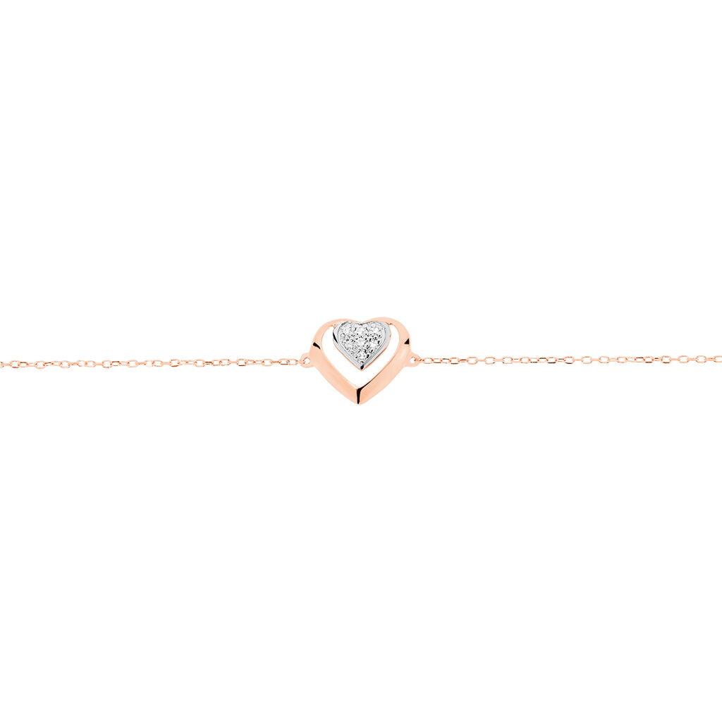 Bracelet Liana Or Rose Diamant - Bracelets Coeur Femme | Histoire d'Or