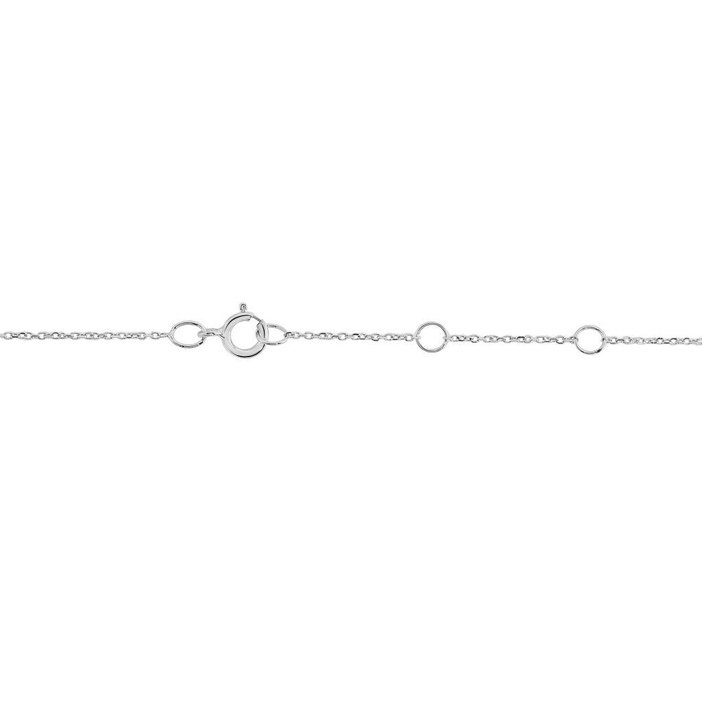 Bracelet Varda Or Blanc Topaze - Bracelets Coeur Femme | Histoire d'Or