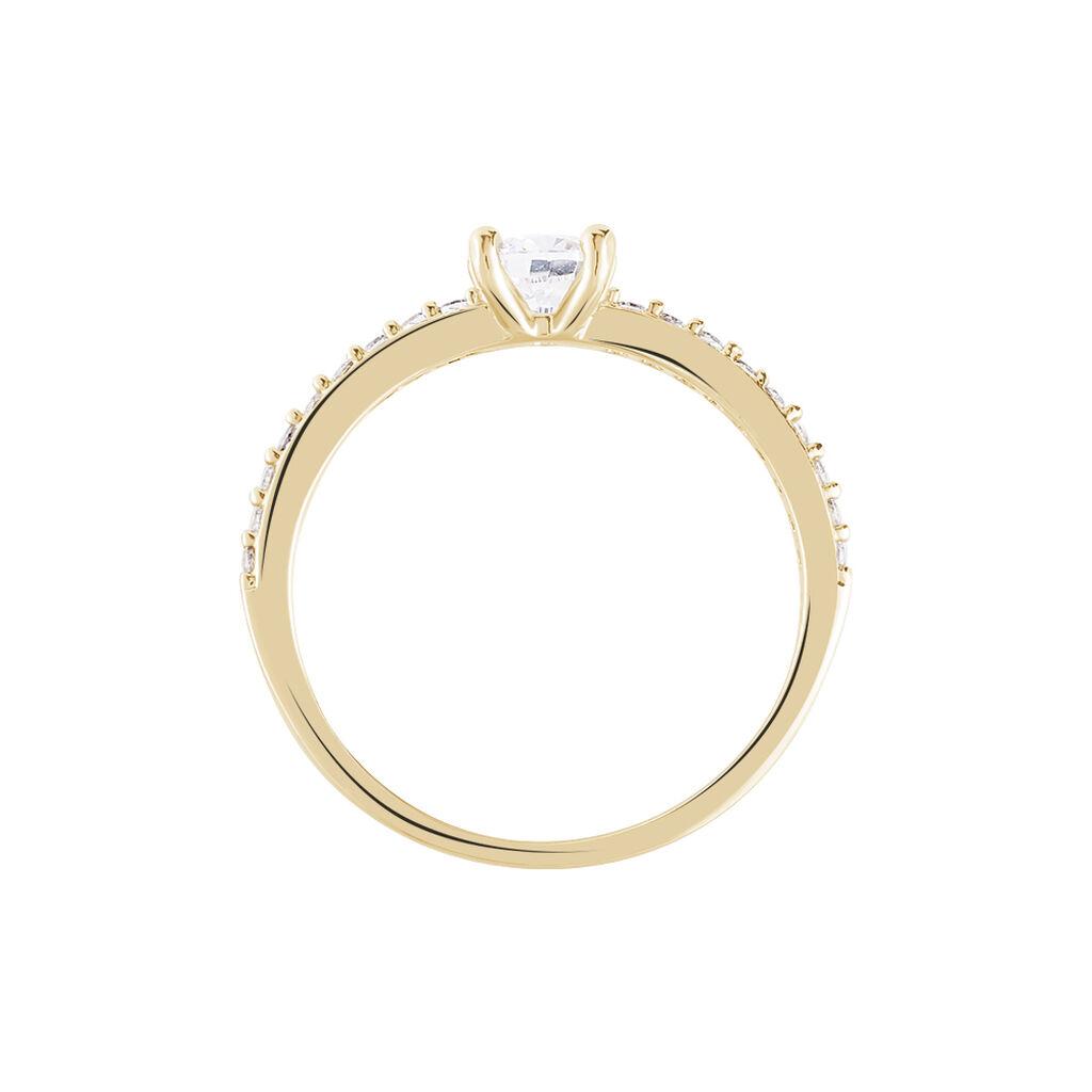 Bague Solitaire Mireilla Plaque Or Jaune Oxyde De Zirconium - Bagues solitaires Femme | Histoire d'Or
