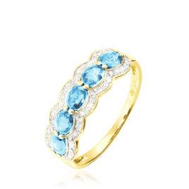 Bague Margaux Or Jaune Topaze Et Diamant - Bagues avec pierre Femme | Histoire d'Or