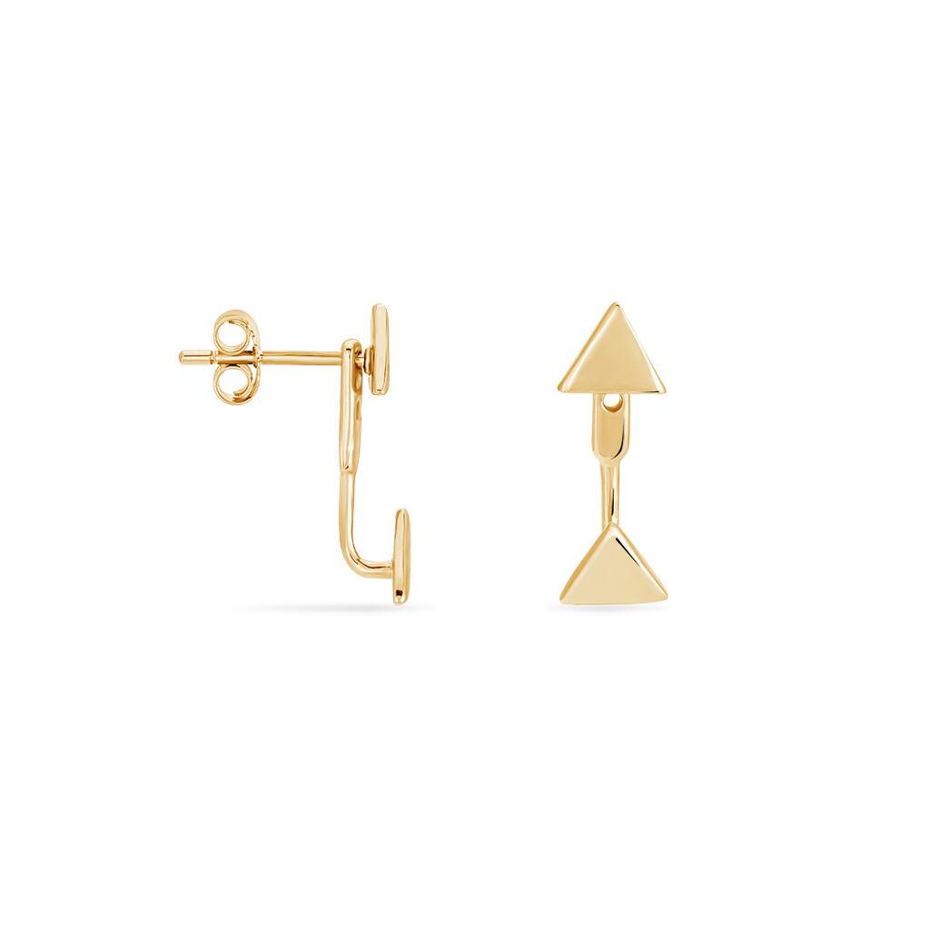 Bijoux D'oreilles Amira Plaque Or Jaune - Boucles d'oreilles fantaisie Femme | Histoire d'Or