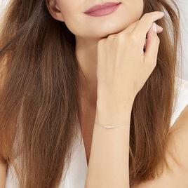 Bracelet Ania Argent Blanc - Bracelets fantaisie Femme | Histoire d'Or