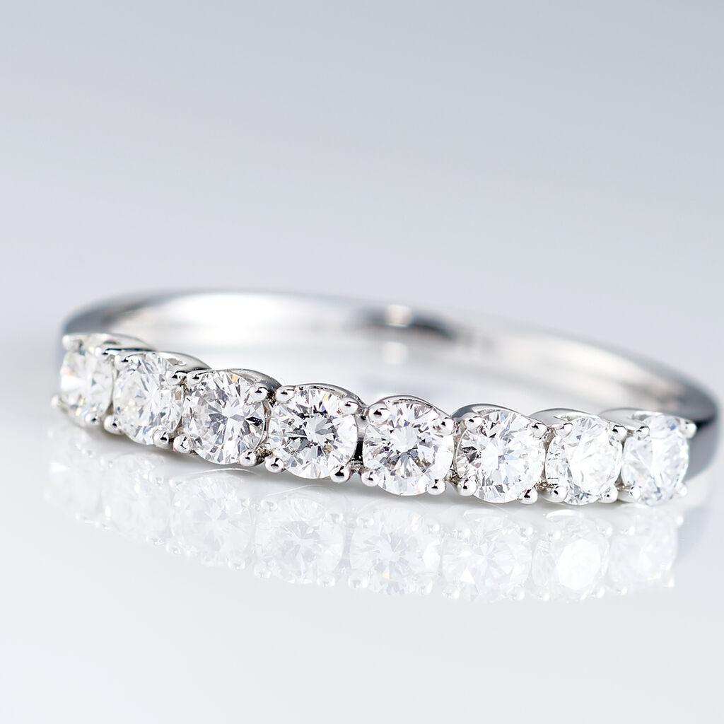 Alliance Eloisa Or Blanc Diamant Synthetique - Alliances Femme | Histoire d'Or