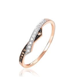 Bague Lina Or Rose Et Diamants  - Bagues avec pierre Femme | Histoire d'Or