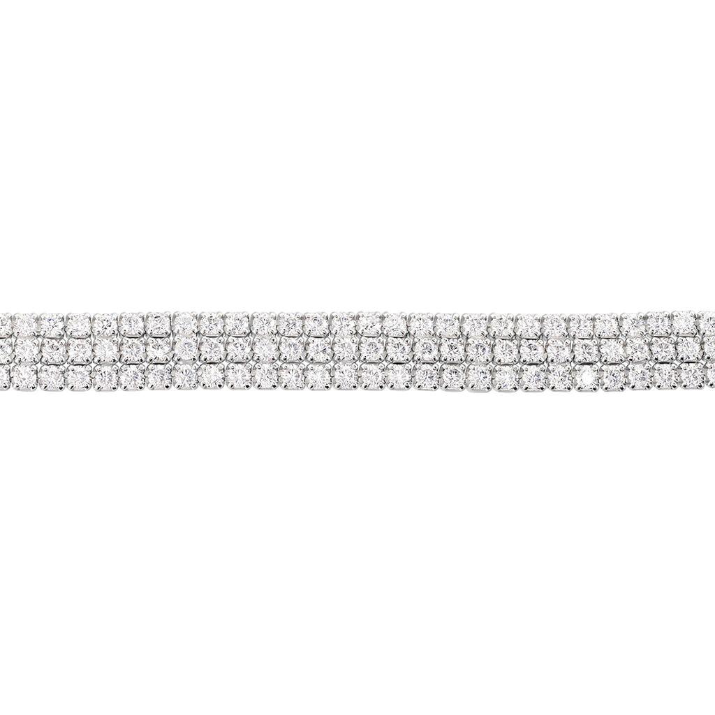 Bracelet Anthia Argent Blanc Oxyde De Zirconium - Bijoux Femme   Histoire d'Or