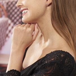 Boucles D'oreilles Pendantes Ondina Argent Blanc Oxyde De Zirconium - Boucles d'oreilles fantaisie Femme | Histoire d'Or