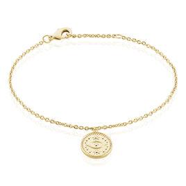 Bracelet Taneya Plaque Or Jaune - Bracelets fantaisie Femme | Histoire d'Or