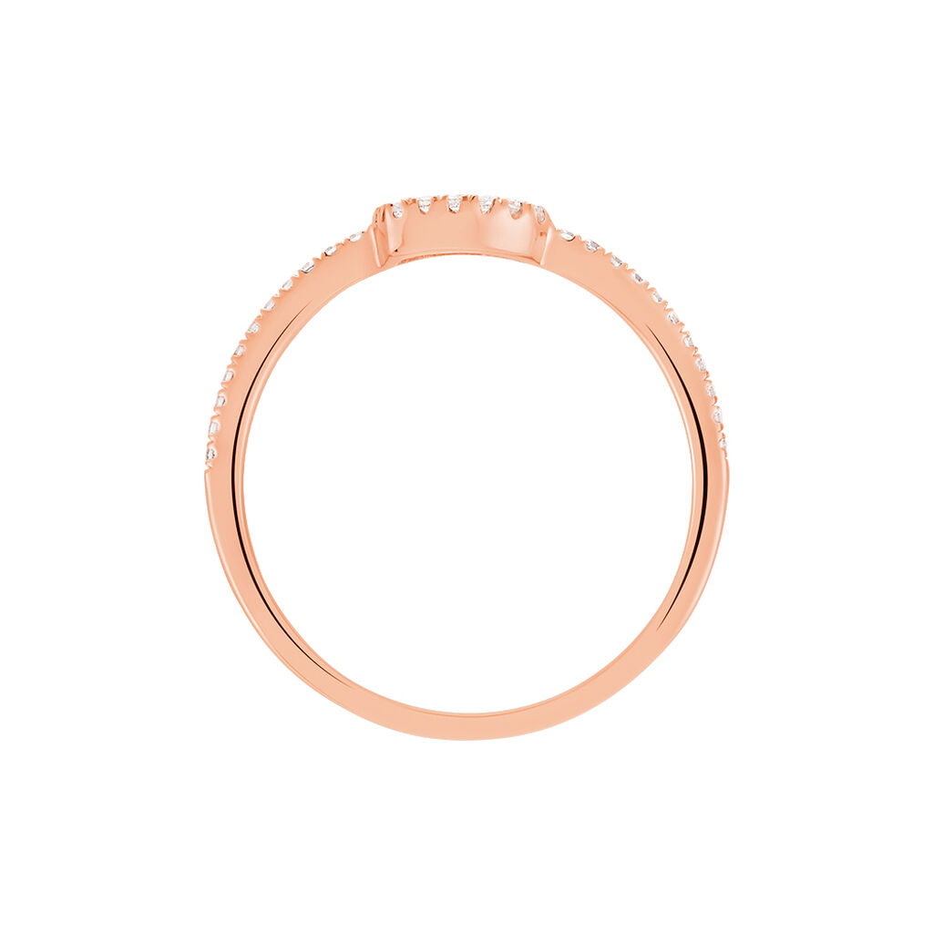Bague Phanie Argent Rose Oxyde De Zirconium - Bagues Coeur Femme | Histoire d'Or