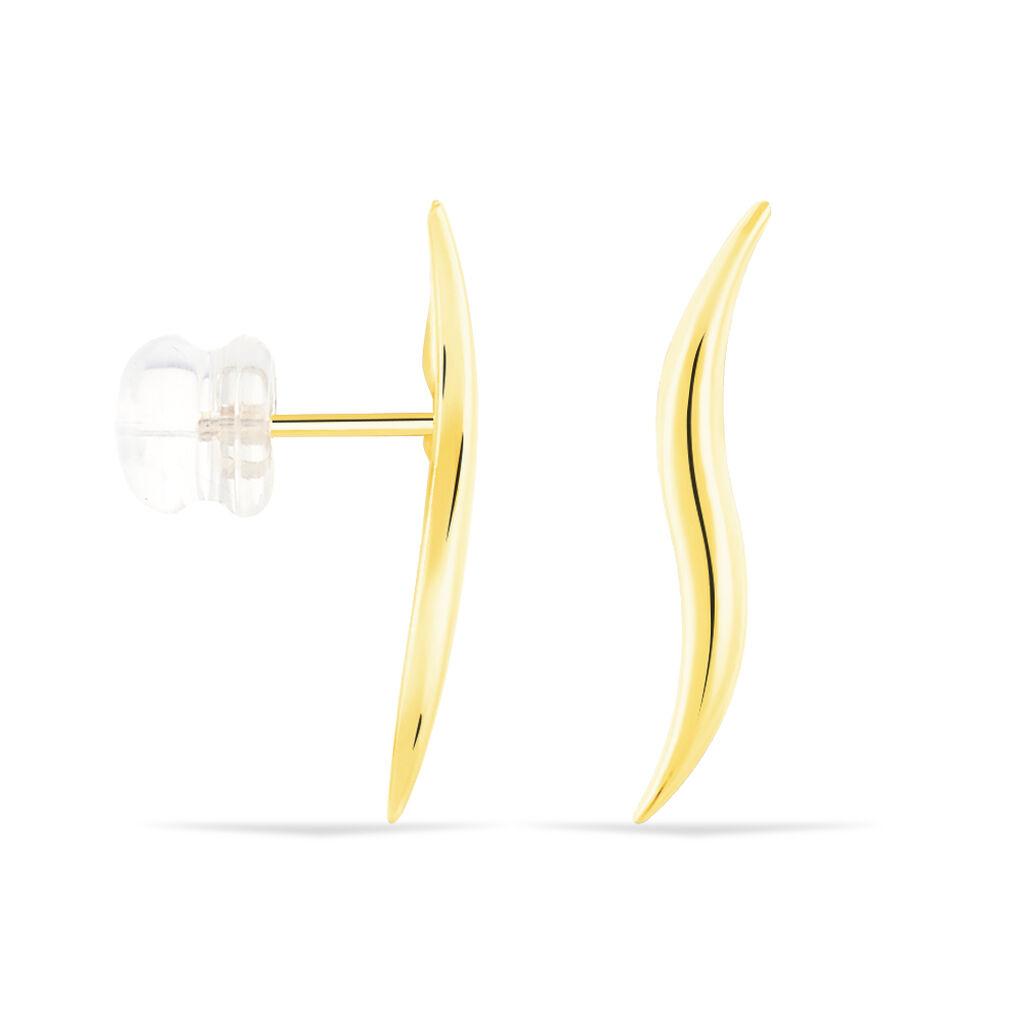 Boucles D'oreilles Pendantes Merone Vagues Or Jaune - Boucles d'oreilles pendantes Femme | Histoire d'Or