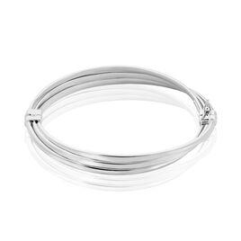 Bracelet Jonc Ciarra Argent Blanc - Bracelets joncs Femme   Histoire d'Or