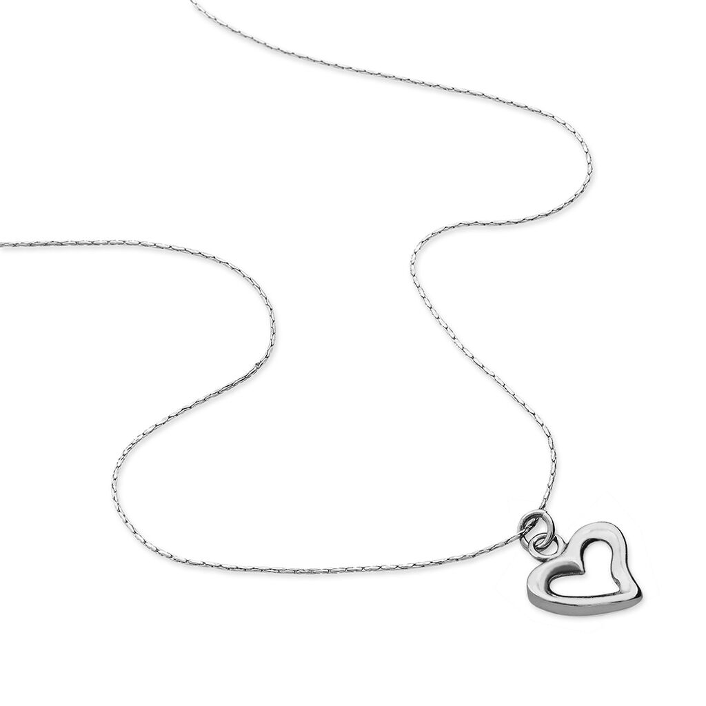 Collier Sweet Love Argent Blanc - Colliers Coeur Femme | Histoire d'Or