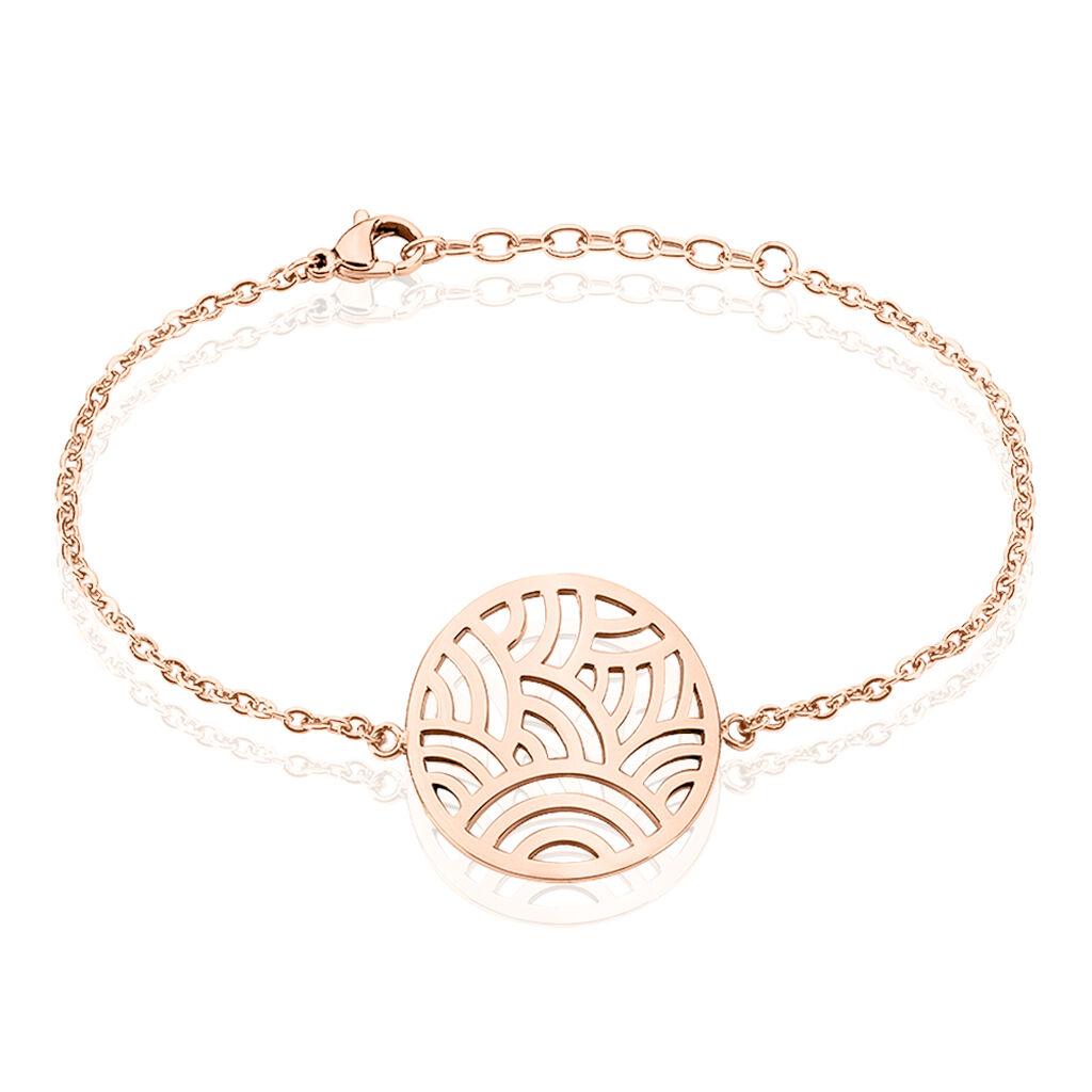 Bracelet Vagua Acier Rose - Bracelets fantaisie Femme | Histoire d'Or